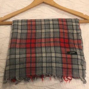 J Crew long scarf plaid